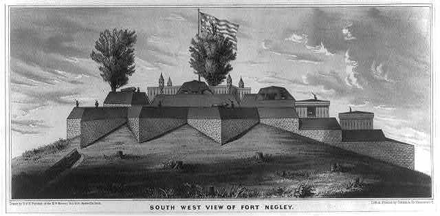 South west view of Fort Negley