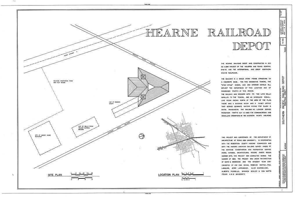 Southern Pacific Railroad Depot, Hearne, Robertson County, TX