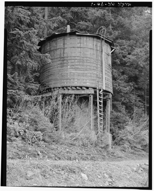 Southern Pacific Railroad Natron Cutoff, Cruzatte Tank, Milepost 545.4, McCredie Springs, Lane County, OR
