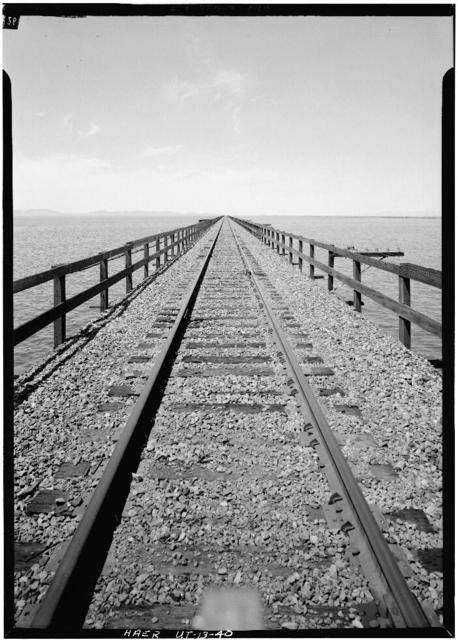 Southern Pacific Railroad, Ogden-Lucin Cutoff Trestle, Spanning Great Salt Lake, Brigham City, Box Elder County, UT