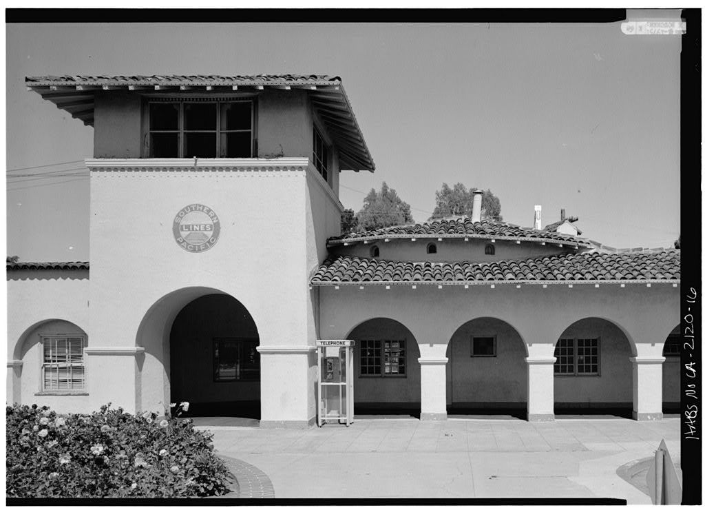 Southern Pacific Railroad Station, Burlingame Avenue & California Drive, Burlingame, San Mateo County, CA