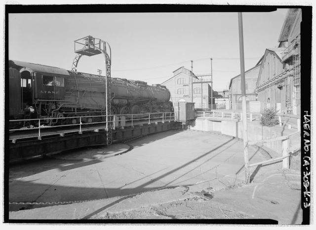 Southern Pacific, Sacramento Shops, Turntable, 111 I Street, Sacramento, Sacramento County, CA