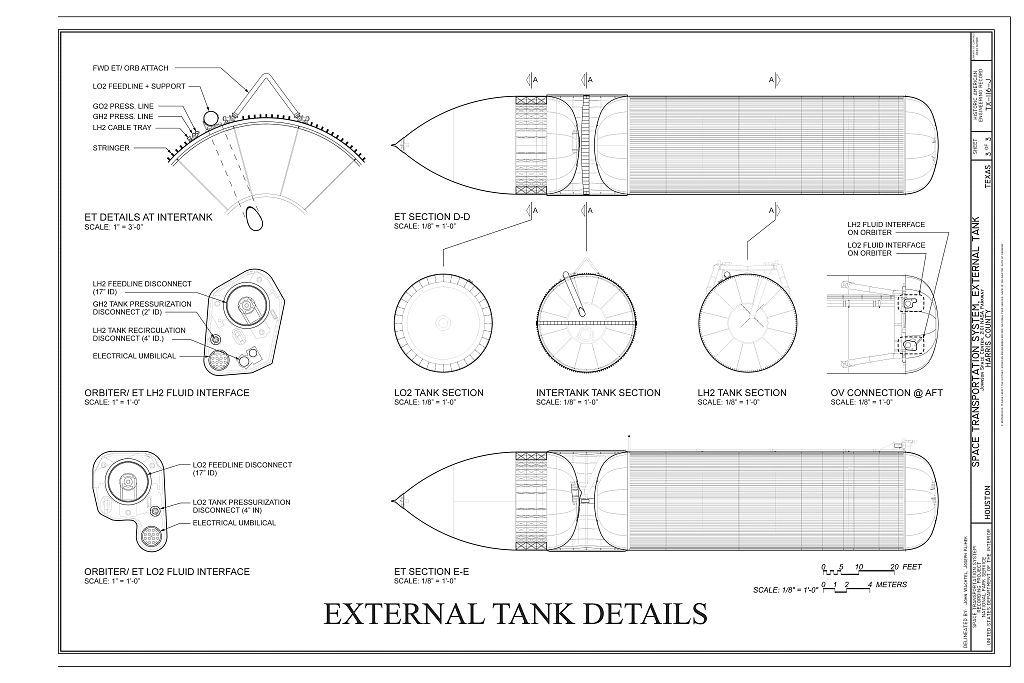 Space Transportation System, External Tank, Lyndon B. Johnson Space Center, 2101 NASA Parkway, Houston, Harris County, TX