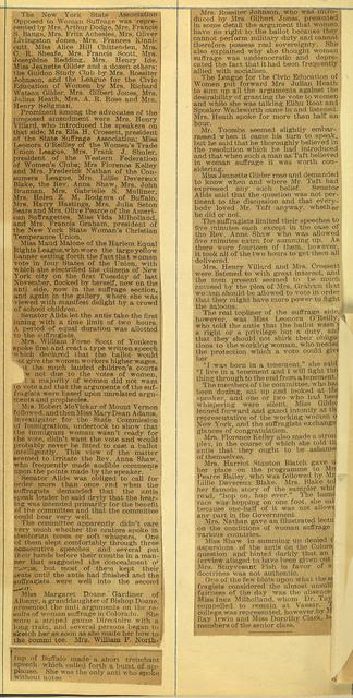 Speaker Wadsworth Aids Suffragists; page 2