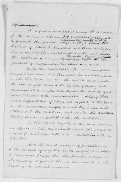 Speeches (2) on behalf of Benjamin Harrison for President