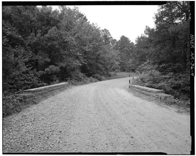 Spring Lake Bridge, Spanning Bob Barnes Branch at County Road No. 36D, Belleville, Yell County, AR