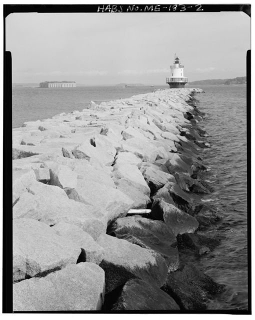 Spring Point Ledge Light Station, End of breakwater at foot of Fort Preble, South Portland, Cumberland County, ME