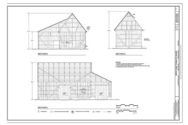 Spye Park Tobacco Barn, 10199 Griffiths Lane, White Plains, Charles County, MD