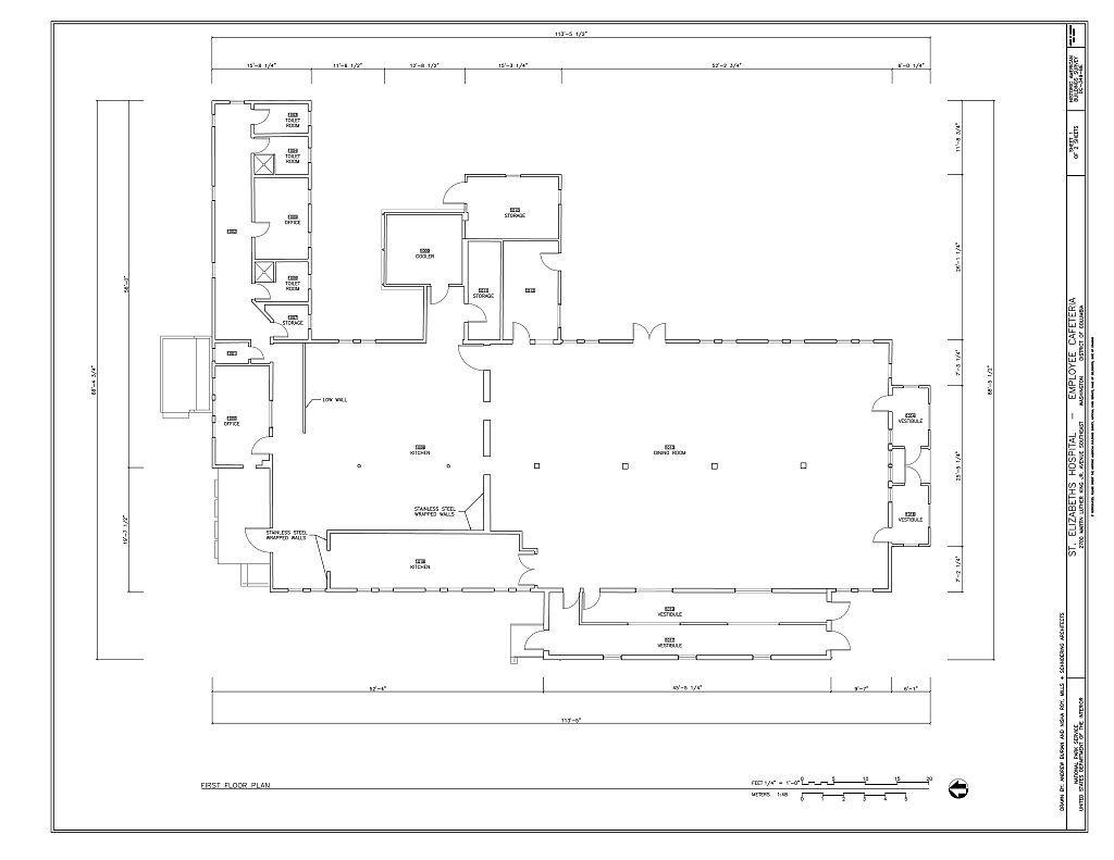 St. Elizabeths Hospital, Employee Cafeteria, 676-698 Redwood Drive, Southeast, Washington, District of Columbia, DC