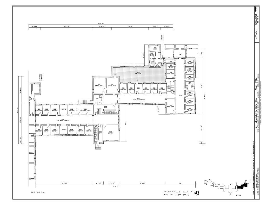 St. Elizabeths Hospital, West Wing, 539-559 Cedar Drive, Southeast, Washington, District of Columbia, DC