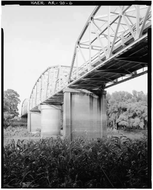 St. Francis River Bridge, Spanning St. Francis River at U.S. Highway 70, Forrest City, St. Francis County, AR