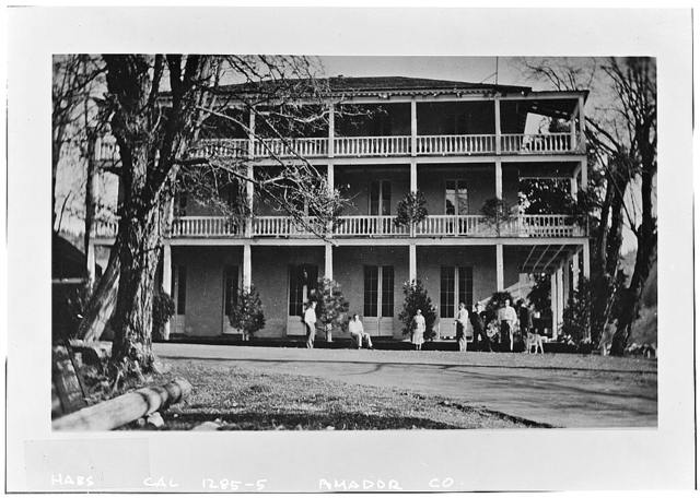 St. George Hotel, Main & National Streets, Volcano, Amador County, CA