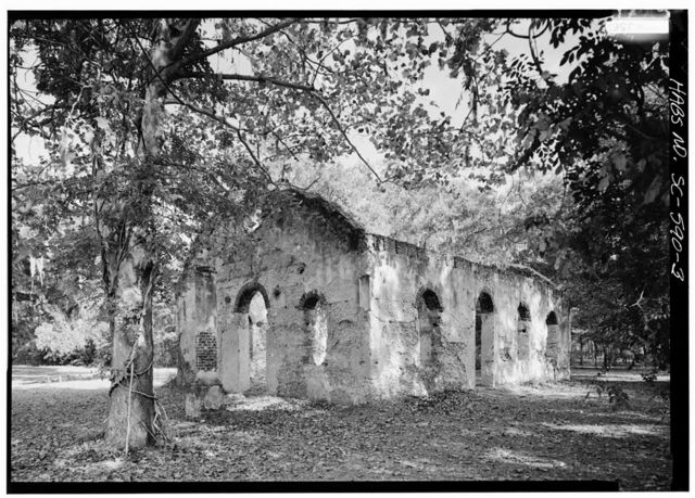 St. Helena Island Parish Church Ruins, Junction County Roads 45 & 37, Frogmore, Beaufort County, SC