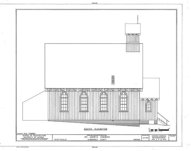 St. John's Church (Episcopal), Harrison & Bird Streets, Scottsville, Albemarle County, VA