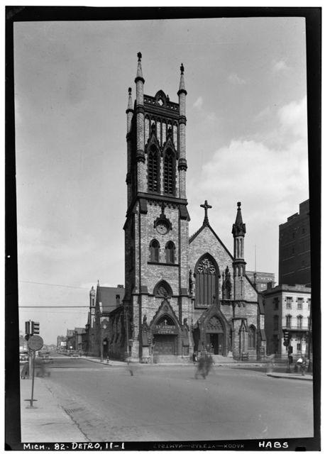 St. John's Episcopal Church, Woodward Avenue & Vernor Highway, Detroit, Wayne County, MI