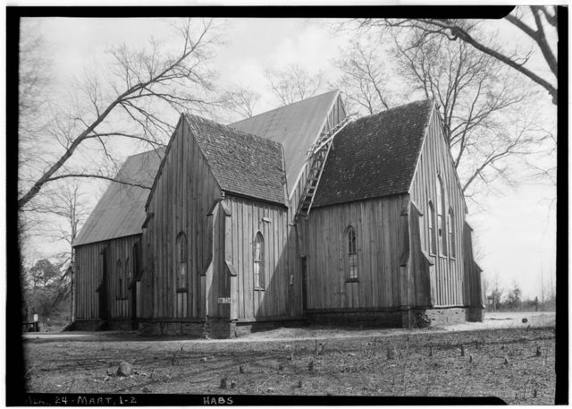 St. Luke's Episcopal Church, (Moved from Cahaba, AL), Martin, Dallas County, AL