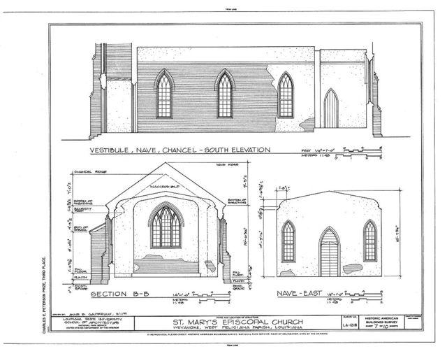 St. Mary's Episcopal Church, Near LA Highway 66, Weyanoke, West Feliciana Parish, LA