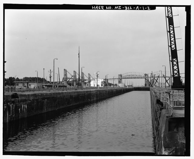 St. Mary's Falls Canal, Soo Locks, Davis Lock Subcomplex, Davis Lock, St. Mary's River at Falls, Sault Ste. Marie, Chippewa County, MI