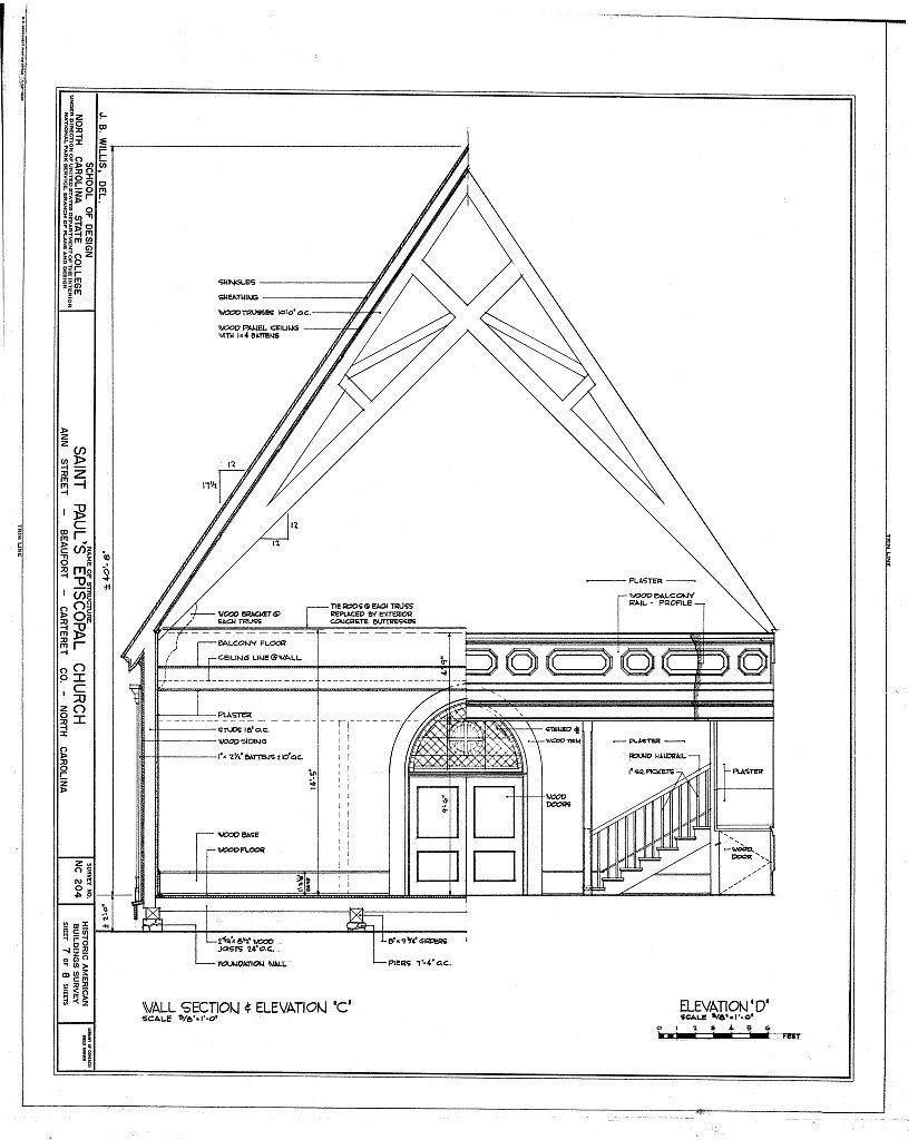 St. Paul's Episcopal Church, 209 Ann Street, Beaufort, Carteret County, NC