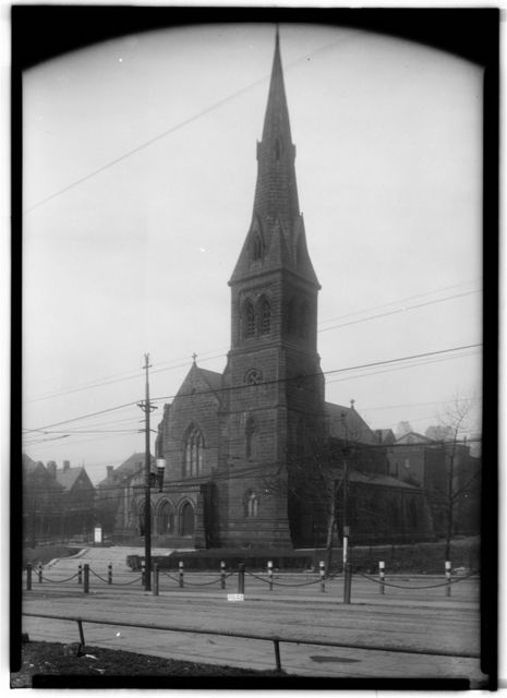 St. Peter's Protestant Episcopal Church, Forbes Street & Craft Avenue (moved from Grant Street), Pittsburgh, Allegheny County, PA