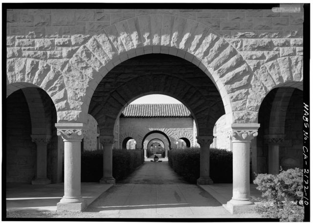 Stanford University Quadrangle, Stanford University Campus, Stanford, Santa Clara County, CA