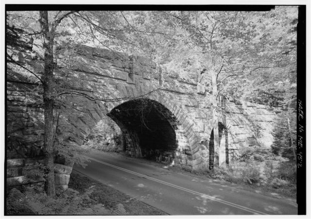 Stanley Brook Bridge, Spanning Stanley Brook, Stanley Brook Motor Road, & Seaside Trail on Barr Hill-Day Mountain Carriage Road, Seal Harbor, Hancock County, ME