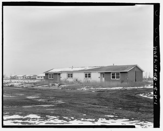 Stanley R. Mickelsen Safeguard Complex, Family Housing Units, In area bounded by Tenth Street North, Avenue A, & Avenue J, Nekoma, Cavalier County, ND