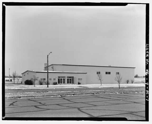 Stanley R. Mickelsen Safeguard Complex, Gymnasium, South of Avenue A, East of softball field, Nekoma, Cavalier County, ND