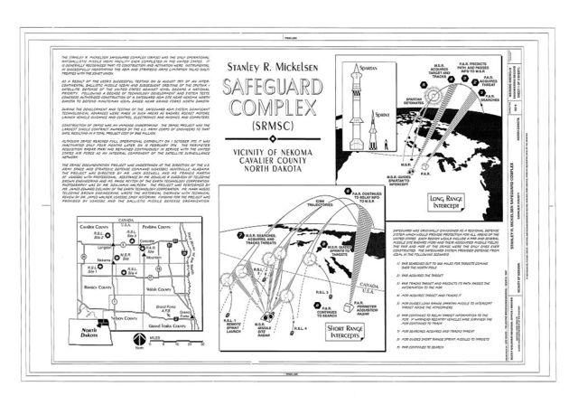 Stanley R. Mickelsen Safeguard Complex, Nekoma, Cavalier County, ND
