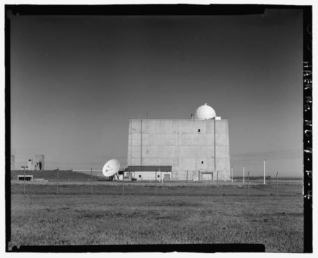 Stanley R. Mickelsen Safeguard Complex, Perimeter Acquisition Radar Building, Limited Access Area, between Limited Access Patrol Road & Service Road A, Nekoma, Cavalier County, ND