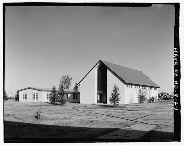 Stanley R. Mickelsen Safeguard Complex, Post Chapel, On Avenue A, North of softball field, Nekoma, Cavalier County, ND