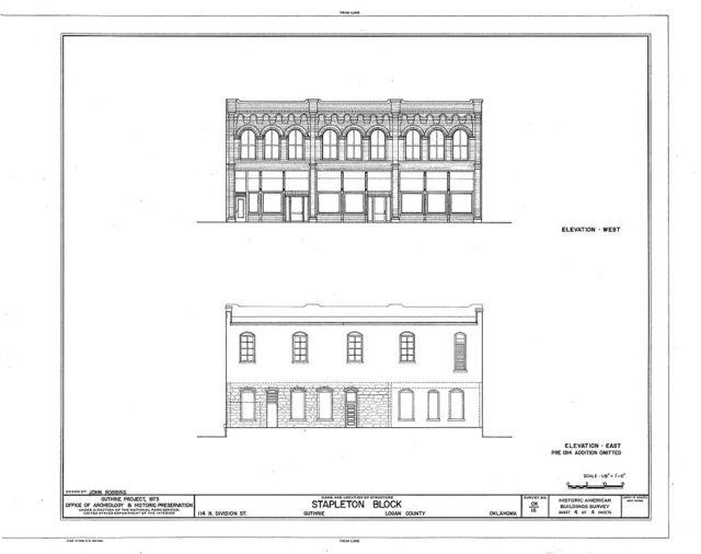 Stapleton Block, 114 North Division Street, Guthrie, Logan County, OK
