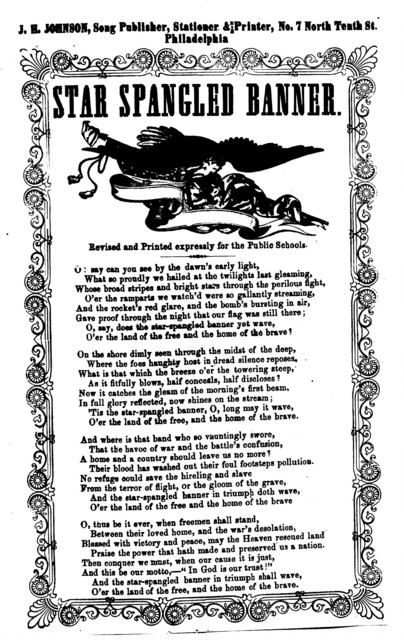 Star spangled banner. J. H. Johnson, Song Publisher, ... Phila