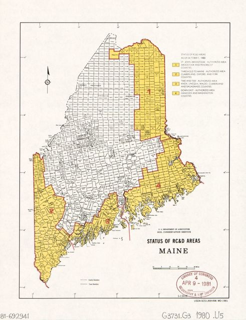Status of RC&D areas, Maine /