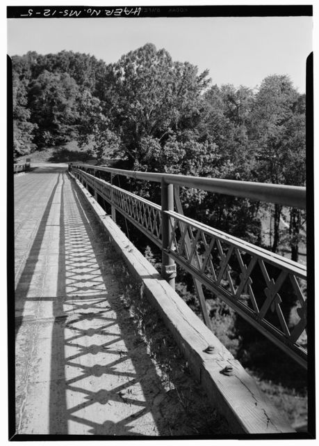 Steel Bridge, Spanning Jackson Road at Confederate Avenue, Vicksburg, Warren County, MS