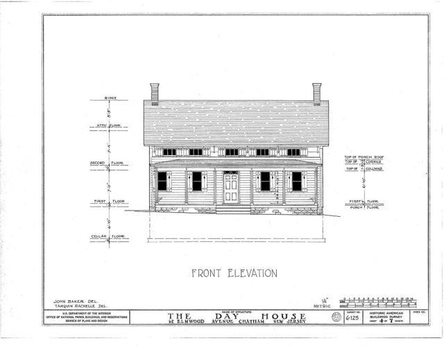 Stephen Day House, 62 Elmwood Road, Chatham, Morris County, NJ