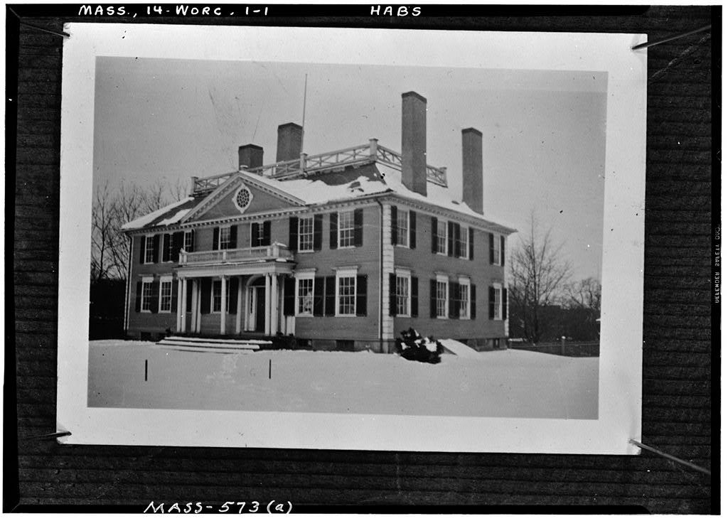 Stephen Salisbury Mansion (first), 40 Highland Street, Worcester, Worcester County, MA