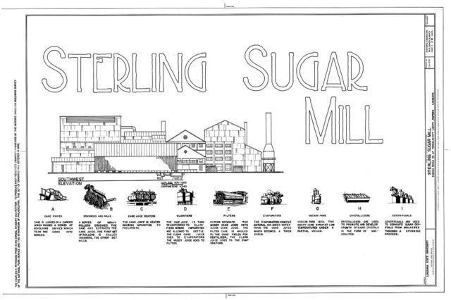 Sterling Sugar Mill, Parish Road 28 (Sterling Road), Franklin, St. Mary Parish, LA