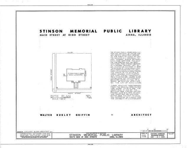 Stinson Memorial Public Library, Main & High Streets, Anna, Union County, IL