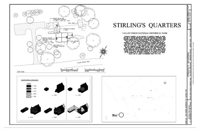 Stirling's Quarters, 555 Yellow Springs Road, Tredyffrin Township, Valley Forge, Chester County, PA
