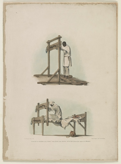 Stocks for hands and feet, with bed and hand stocks, (from the approved models)