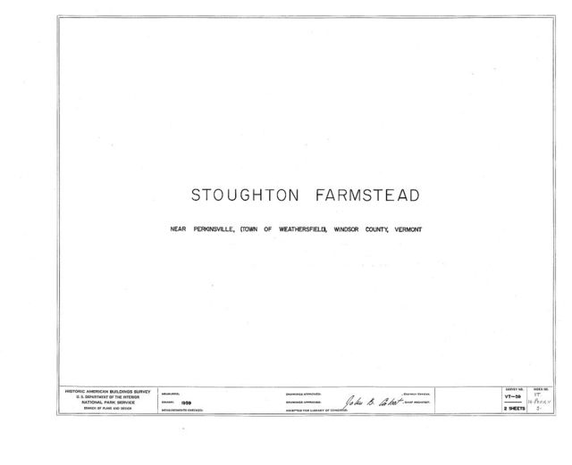 Stoughton Farmstead, On North Branch of Black River (moved to VT, Amsden vicinity), Perkinsville, Windsor County, VT