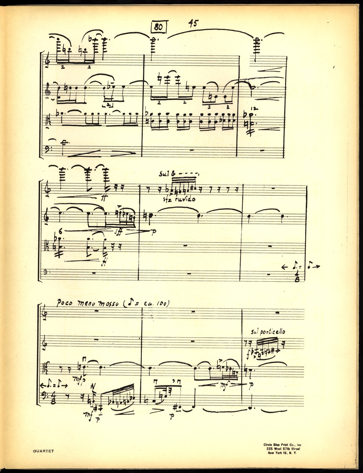 String Quartet [holograph full score, photocopy]