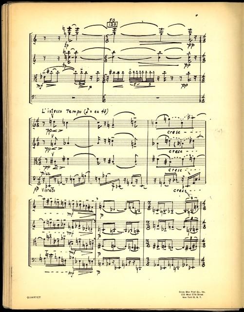String Quartet [holograph full score, photocopy]