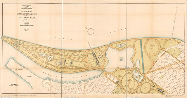 Study for the establishment and use of Potomac Park : [Washington D.C.] /