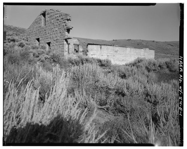 Sublet Mine No. 6, Engine House, Southeast side of Willow Creek Valley, east of County Road No. 306, 3 miles north of U.S. Highway 189, Kemmerer, Lincoln County, WY