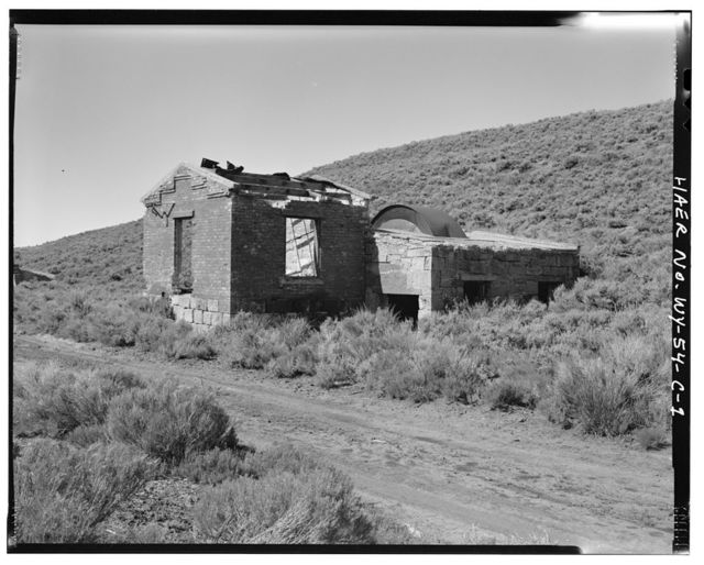 Sublet Mine No. 6, Fan House, North structure, west side of Willow Creek Valley, east of County Road No. 306, 3 miles north of U.S. Highway 189, Kemmerer, Lincoln County, WY