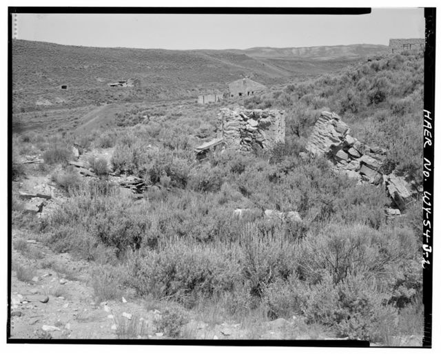 Sublet Mine No. 6, Housing Unit No. 4, East side of Willow Creek Valley, east of County Road No. 306, 3 miles north of U.S. Highway 189, Kemmerer, Lincoln County, WY