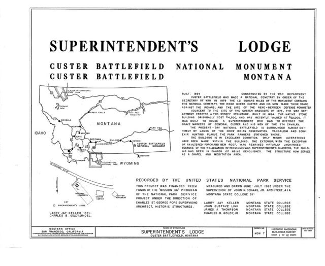 Superintendent's Lodge, Crow Agency, Big Horn County, MT