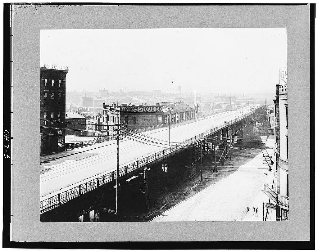 Superior Avenue Viaduct, Cleveland East & West side, Cuyahoga Valley Vicinity, Cleveland, Cuyahoga County, OH